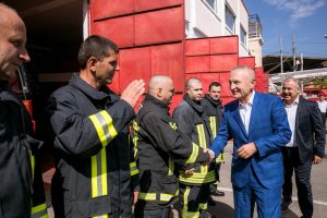 President Meta visits the Tirana Fire Department