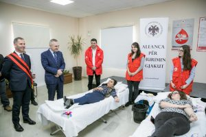 "President Meta visits Cërrik in the framework of the ""Blood Donation Alliance"""